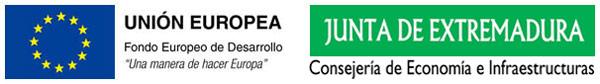 Logo subvención FEDER - Junta de Extremadura - Consejería de Economía e Infraestructuras